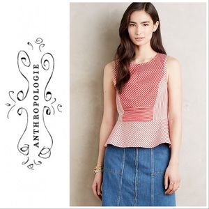 Anthropologie by Maeve Cantua Peplum Top